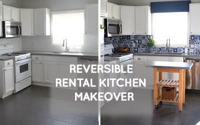 Reversible Rental kitchen remodel on a budget