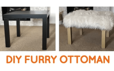 DIY Furry Ottoman and more IKEA Hacks