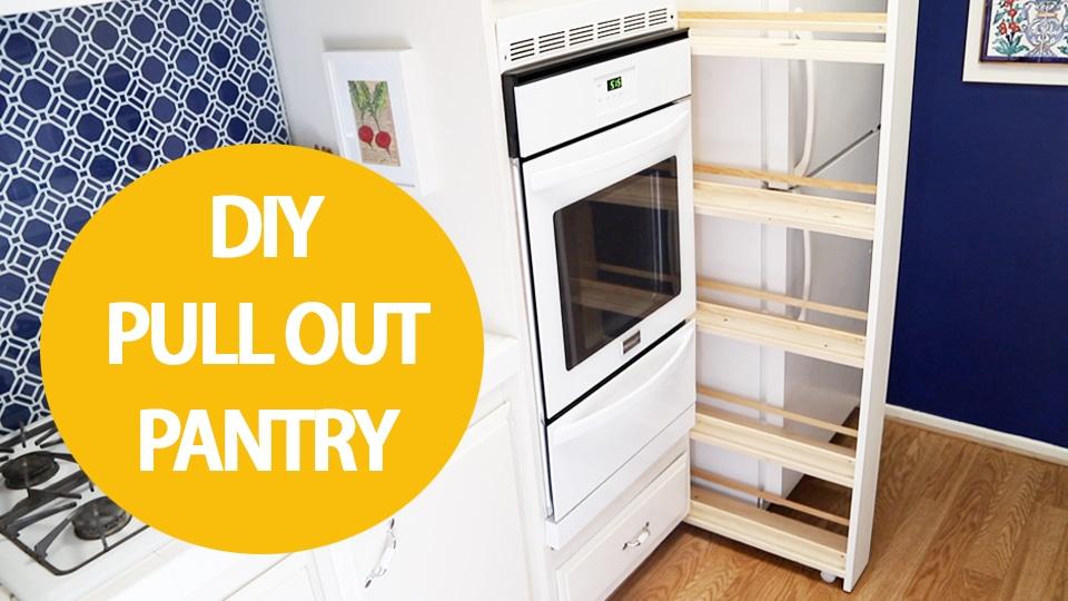 DIY pull out kitchen storage cabinet