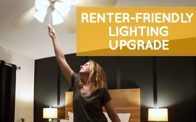 Easy renter-friendly lighting upgrade, no electrician needed!