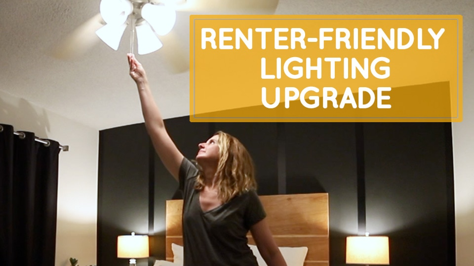 Easy renter-friendly lighting upgrade, no electrician needed!