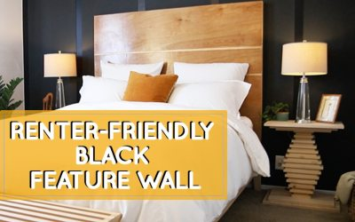 Color inspiration: Black feature wall without painting the wall