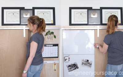Home Office Ideas: Hidden Whiteboard with Barn Door