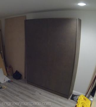 Murphy-bed-installation-front-panel-on