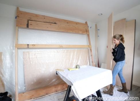 Staining-rack-for-Murphy-bed