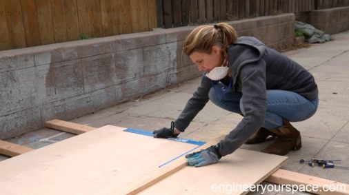marking-plywood-Murphy-bed