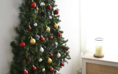 Christmas Tree on Wall – DIY and renter-friendly