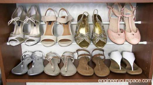 Shoes-on-tension-rods
