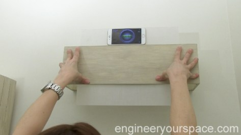 Using phone level to install light