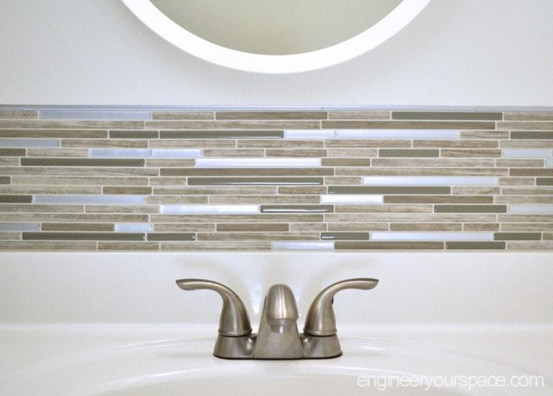 Small Bathroom Remodel Easy Diy Tile Backsplash Engineer Your Space
