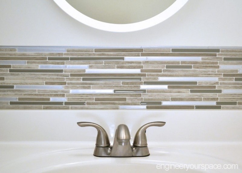 Small Bathroom Remodel: Easy DIY Tile Backsplash
