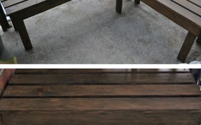 DIY Outdoor Wood Bench