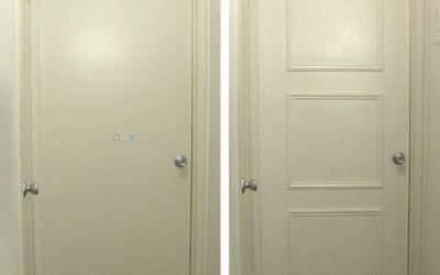 Easy door upgrade with moulding