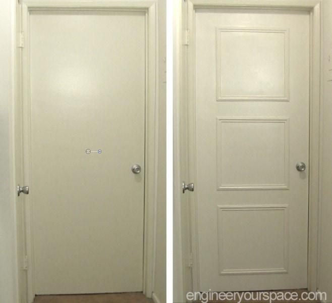 Easy door upgrade with moulding