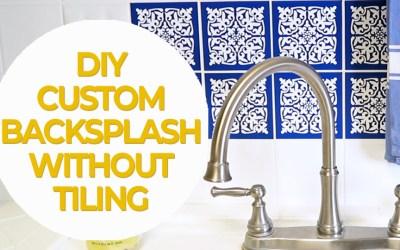 Tile kitchen backsplash upgrade without tiling!