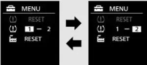 Mitsubishi Tire Pressure TPMS Warning Reset