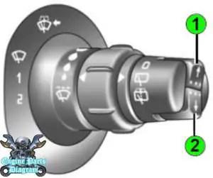 Renault tyre pressure reset button