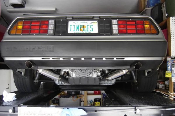 DeLorean with a Toyota 2JZ-GTE inline-six
