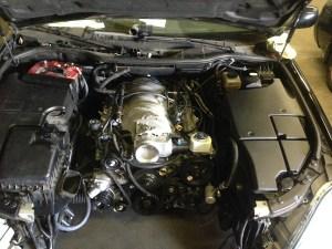 LS3 V8 inside Lexus LS430 engine bay