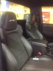 Corvette ZR1 seats inside Chevy Colorado