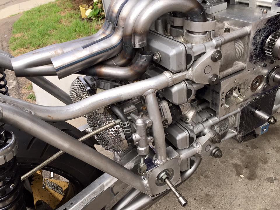 Andreas Georgeades' H16 Powered Motorcycle Update
