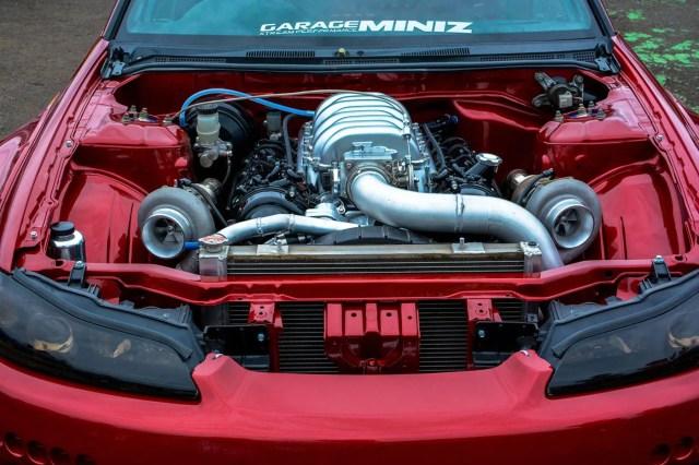 Nissan S15 with a Twin-turbo 1UZ-FE