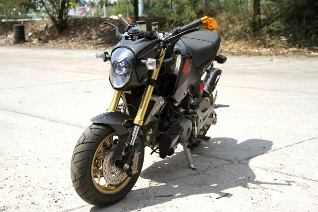 Honda Grom/MSX125 with a Ducati 1199 Panigale R engine