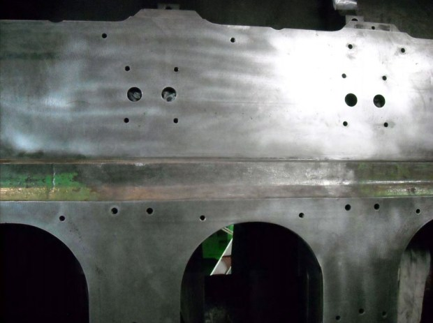 Lock-N-Stitch repair on cruise ship engine