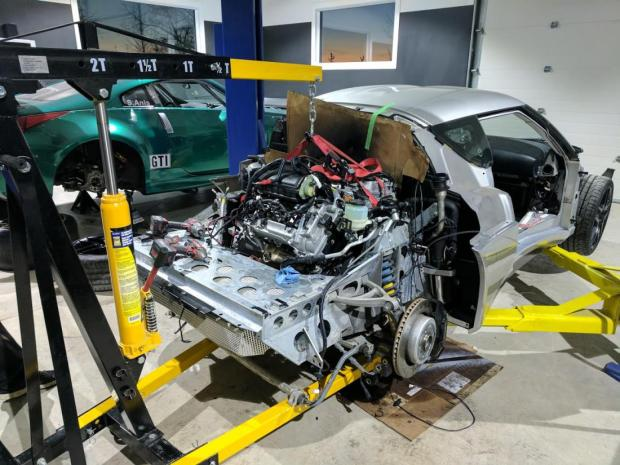 2014 Lotus Evora with a Tesla Model S electric motor and Chevy Volt batteries