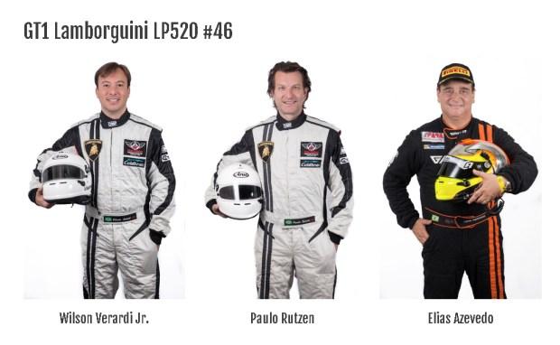 drivers of the Mottin Racing #46 Lamborghini Gallardo