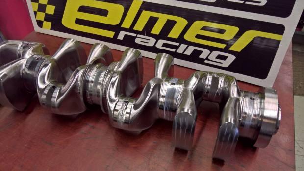 Elmer Racing Thor 4.0 L inline-four crank
