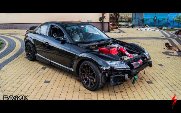 Mazda RX-8 with a Supercharged K20 Inline-Four