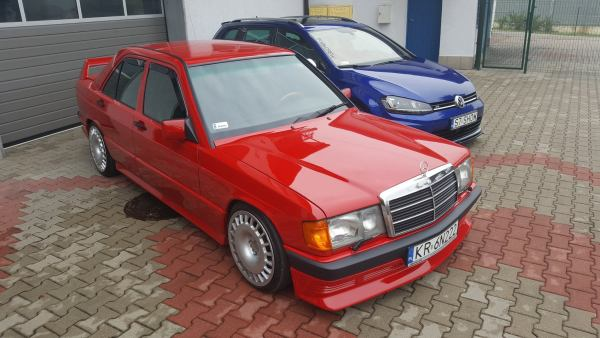 Mercedes 190E with a supercharged M111 inline-four