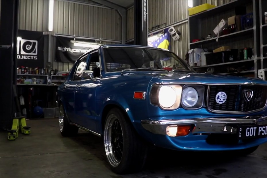 1973 Mazda RX-3 with a turbo 13B rotary