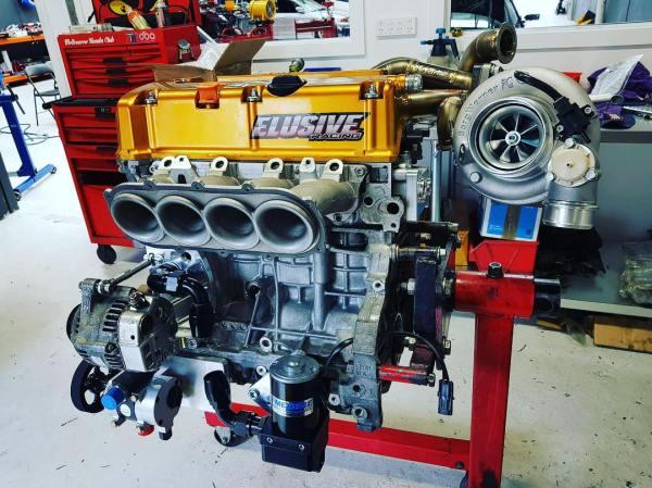 Honda Integra with a turbo K24 inline-four