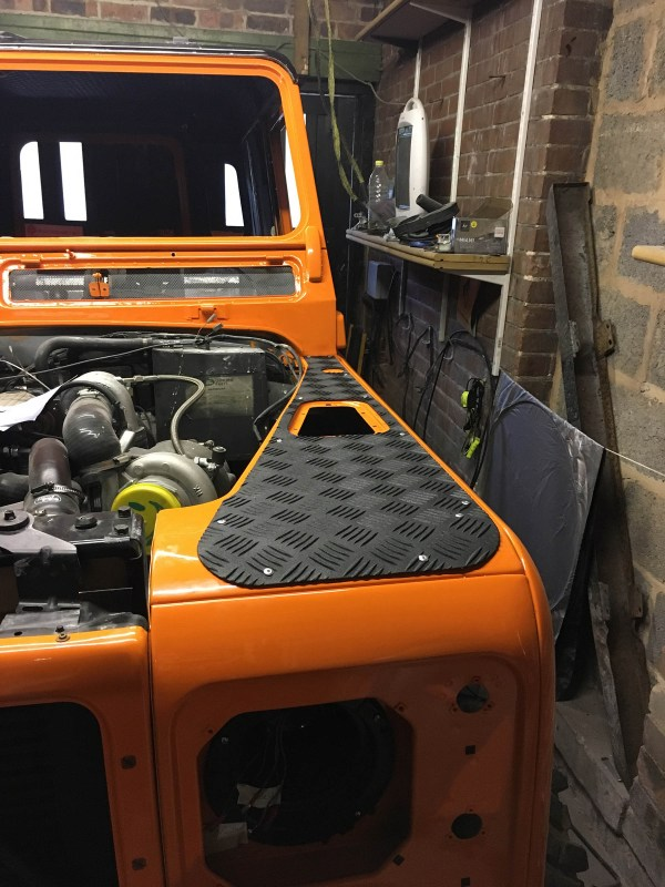 Land Rover Defender with a twin-turbo 200 Tdi diesel inline-four
