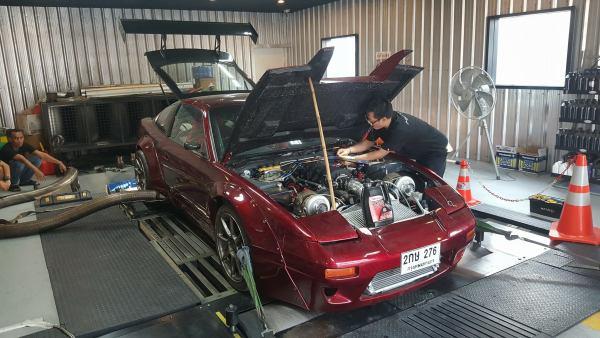 Nissan 200SX with a twin-turbo 3UZ V8