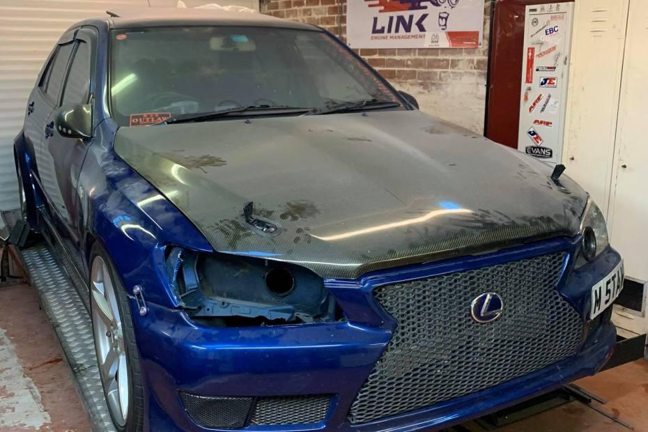 Lexus IS200 with a Twin-Turbo 1UZ V8