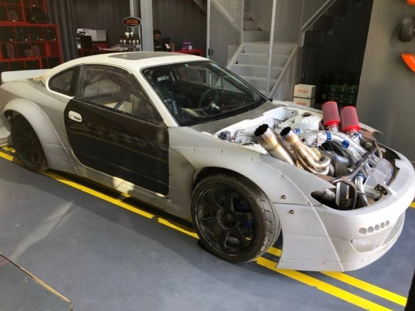 Nissan S15 with a twin-turbo 26B four-rotor