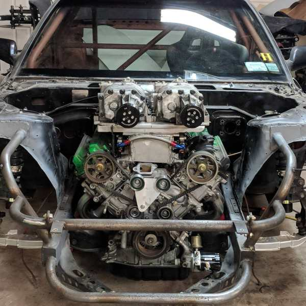 Nissan S13 with a Twin-Supercharged 1UZ V8