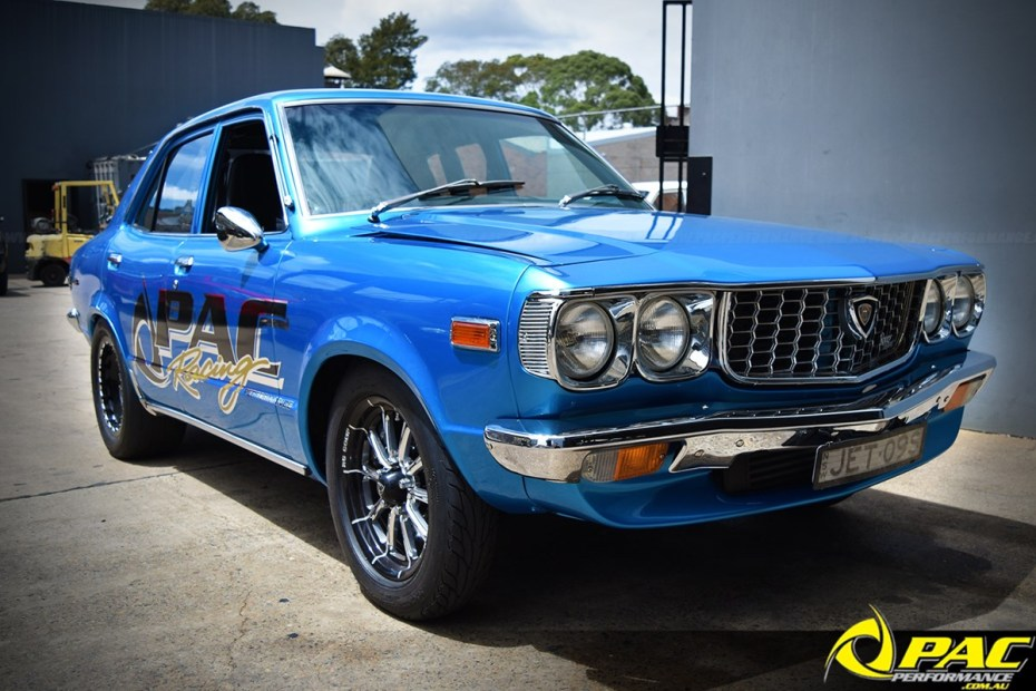 PAC Performance Mazda RX-3 with a turbo 13B two-rotor