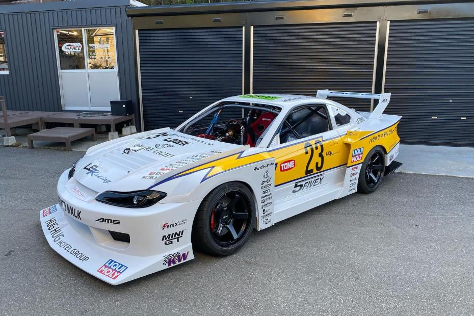 LB Racing Nissan S15 with a twin-turbo 26B four-rotor