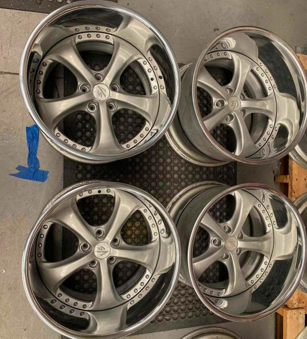 Work VS-KF 18x12 wheels going on James Pinch's Nissan S15 with a Mercedes Twin-Turbo M177 V8