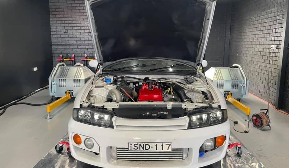 Nissan R33 Skyline with a turbo Barra inline-six