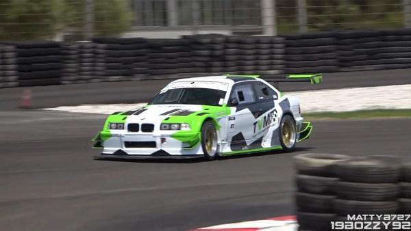 BMW E36 with a turbo S14 inline-four