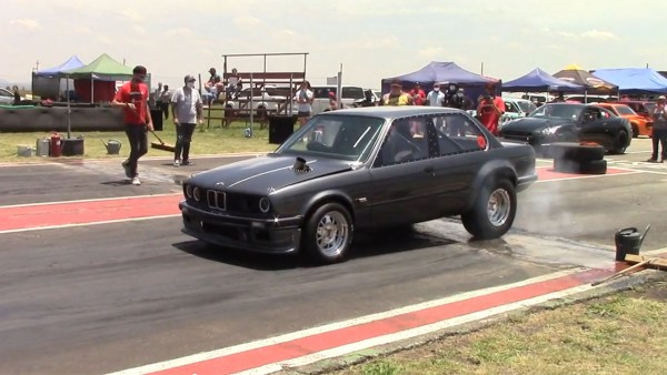 BMW E30 with a turbo Mazda inline-four