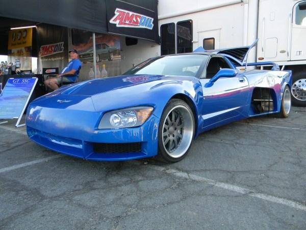 Custom Corvette C5 with two supercharged LT4 V8 motors