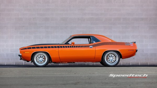 1970 Plymouth AAR Cuda built by Speedtech Performance with a Supercharged Hellcat Redeye V8