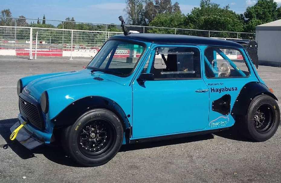 Mini race car with a Suzuki Hayabusa inline-four