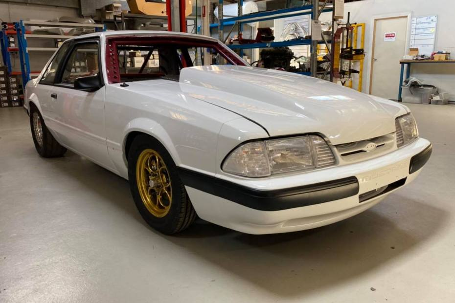 1989 Mustang built by Tuff Mounts with a Turbo Barra Inline-Six